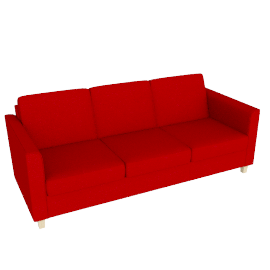 Portia Grand Sofa, Fraser Crimson Red
