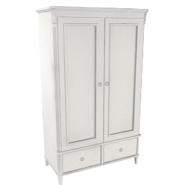Louisa Double Wardrobe, Soft White