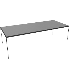 1966 Collection Porcelain Dining Table, 90'', Onyx