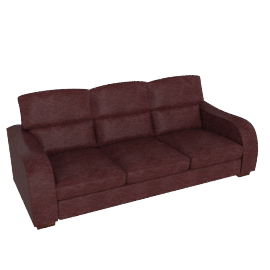 Granada Grand Leather Sofa, Burgundy