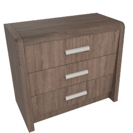 Saturn-Y- 3 Drawers Dresser, Medium Oak