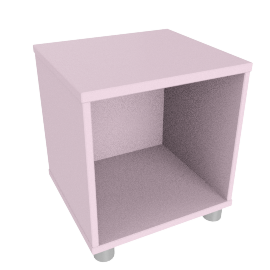Box Single Cube Unit, Pink