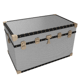 Diamond Embossed Aluminium King Trunk