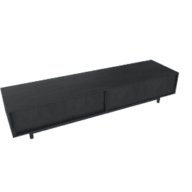 Edel Media Unit, Ebonized Oak