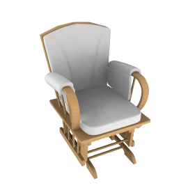 Hayley Glider Chair, Cream