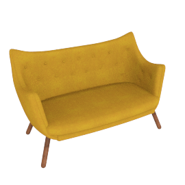 Poet Sofa, Canvas Gold