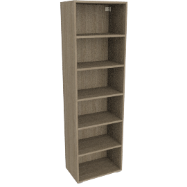 Match Tall Single Shelf Unit, Grey Ash