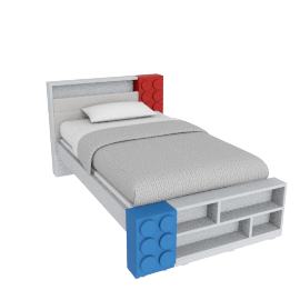 Blocks Bed - 120x200