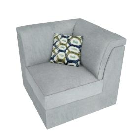 Lourini Wedge Sofa, Grey