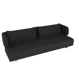 Bay Sleeper Sofa - Ebony