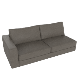 Reid One-Arm Sofa, Left in Leather, Slate