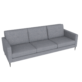 Brunel 4 Seater Sofa, Murcia Grey