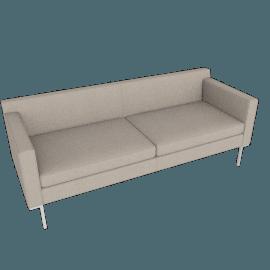Theatre Sofa, Linen Weave, Flax