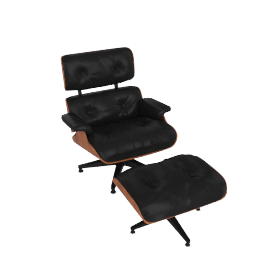 Eames® Lounge and Ottoman, Tall