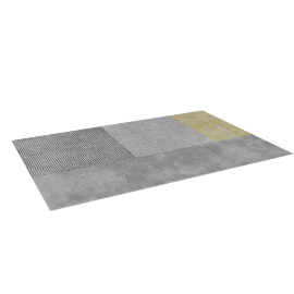 Stippen Rug 6'X9', Grey