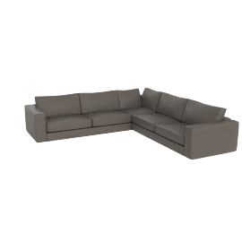 Reid Corner Sectional in Leather, Slate