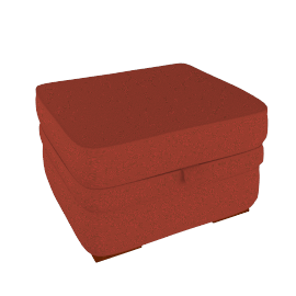 Romsey Footstool, Red