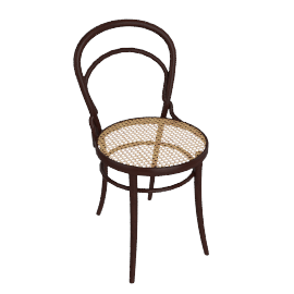 Era Chair with Cane - Coffee