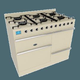 Britannia Sigma XG Range Cooker, Cream / Stainless Steel, SI-10XGC-SLX-C