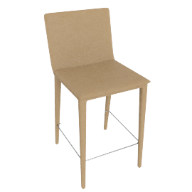 Bottega Counter Stool, Ivory