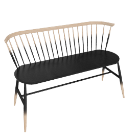 Originals Loveseat Colour Finish, Graded Black