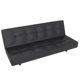 Napa Sofabed, Black Leather
