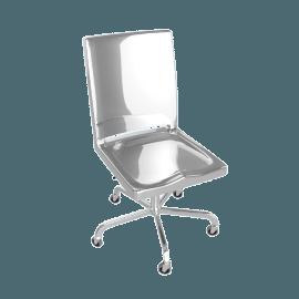 Hudson Armless Task Chair - Polished