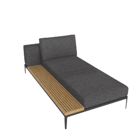 Grid Left Facing Chaise, Pumice