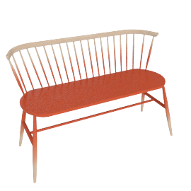 Originals Loveseat Colour Finish, Graded Mandarin