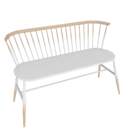 Originals Loveseat Colour Finish, Graded White