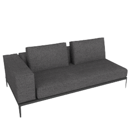 Grid Left Facing One Arm Sofa