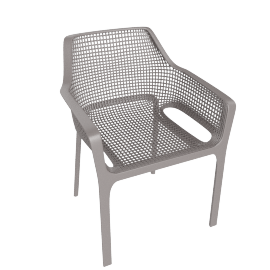 Diana Patio Chair, Brown