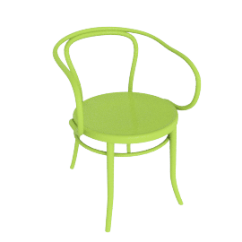 Era Round Armchair - Green