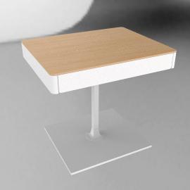 Min Bedside Table with Pedestal Base