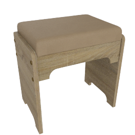 Hayden Stool, HG Cream/L.Oak