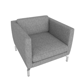 Comolino Armchair, Lama Tweed, Heather