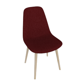 Retro Slide Dining Chair, Red