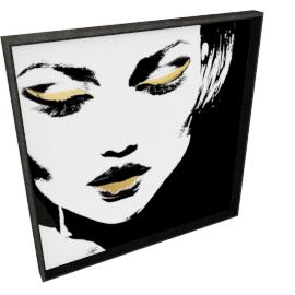 Glam Rock VII by KelliEllis - 30''x30'', Black