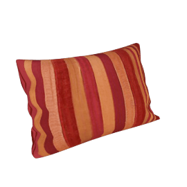Velvet Ribbons Cushion, Claret