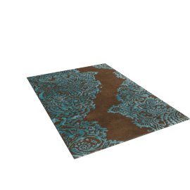 Harlequin Venezia Rug, Chocolate/Teal, L240xW170cm