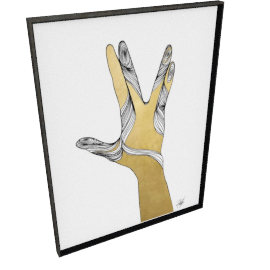 Sign Language VIII by KelliEllis - 36''x48'', Black