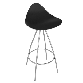 Onda Counter Stool Stainless - White.Black