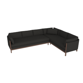 Emmy Sofa Corner Sectional, Right, Pebble Weave - Cinder