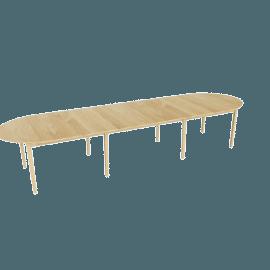 Gala Extension Table - Four Leaves, Oak