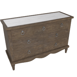 Lexington 7 Drwr Dresser-Dark Grey/White