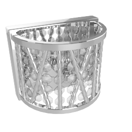 Emilia Crystal Drum Wall Light