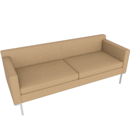 Theatre Sofa, Kalahari Leather, Sand