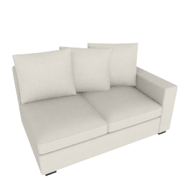 Muse One Arm Sofa - Left (Fabric B) - Natural