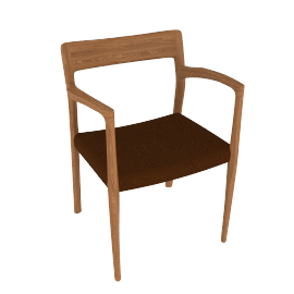 Moller Model 57 Armchair in Walnut with Hallingdal Seat - Walnut.BlkBrwn
