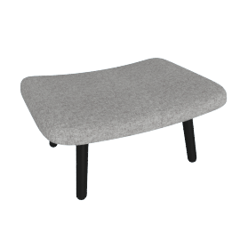 About A Lounge 03 Ottoman, Hallingdal 0126 Mid Grey / Black